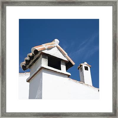 Spanish Rooftops Framed Print by Anne Gilbert