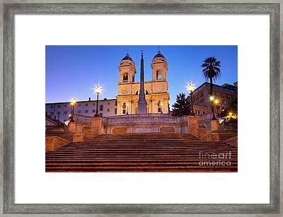 Spanish Steps Dawn Framed Print by Brian Jannsen
