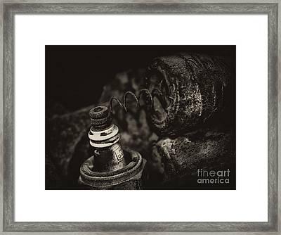 Spark Plug Framed Print by Wilma  Birdwell