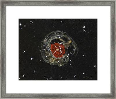Sparkle Of A Rose  Framed Print by Leo Gehrtz