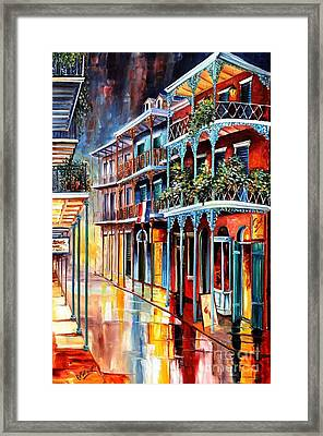 Sparkling French Quarter Framed Print by Diane Millsap