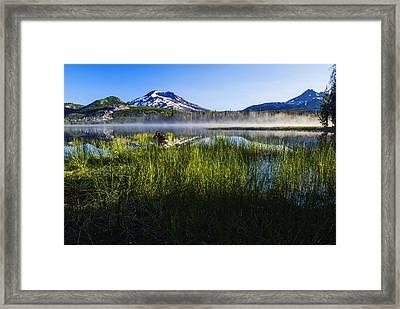 Sparks Lake Oregon Usa Framed Print by Vishwanath Bhat