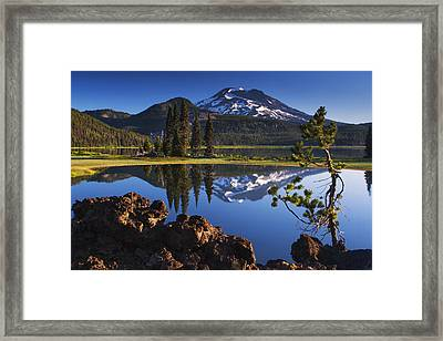 Sparks Lake Sunrise Framed Print by Mark Kiver