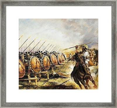 Spartan Army Framed Print by Andrew Howat