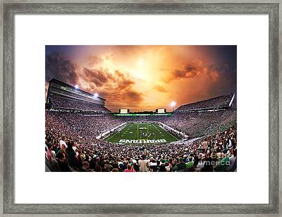 Spartan Stadium Framed Print by Rey Del Rio