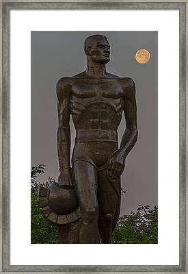Sparty And Moon Framed Print by John McGraw