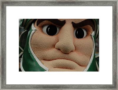 Sparty Face  Framed Print by John McGraw