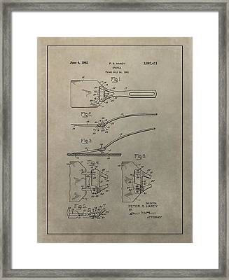 Spatula Patent Illustration Framed Print by Dan Sproul