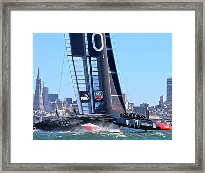 Oracle America's Cup Winner Framed Print by Steven Lapkin