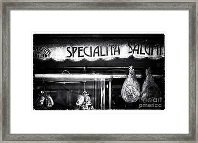 Special Salami Framed Print by John Rizzuto