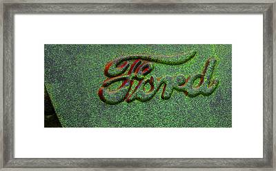 Speckled Ford Framed Print by Jean Noren