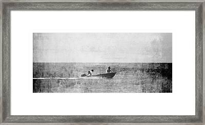 Speed Boat Framed Print by Girish J