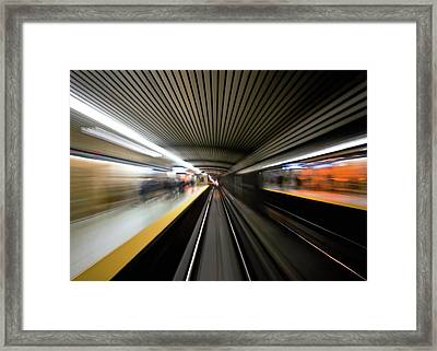 Speed Framed Print by Brian Carson