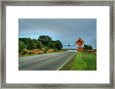 Speed Limit 30 Km/h-be Careful Where You Land Framed Print by Eti Reid