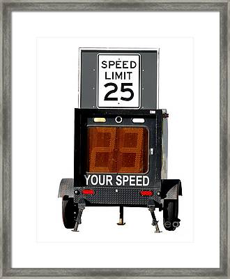 Speed Limit Monitor Framed Print by Olivier Le Queinec