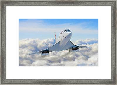 Speeding Above The Clouds Framed Print by Dale Jackson