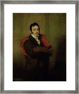 Spencer, 2nd Marquess Of Northampton, 1821 Framed Print by Sir Henry Raeburn
