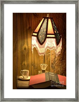 Spencer Bedside Table Framed Print by Juli Scalzi
