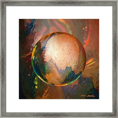 Sphering Lunar Vibrations Framed Print by Robin Moline