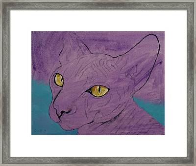 Purple Sphynx Framed Print by Michael Creese