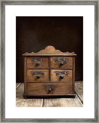 Spice Cabinet Framed Print by Amanda And Christopher Elwell