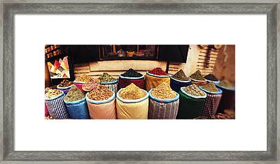 Spice Market Inside The Medina Framed Print by Panoramic Images