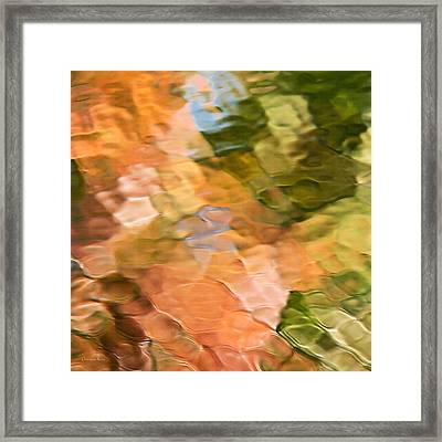 Spice Mosaic Abstract Square Framed Print by Christina Rollo