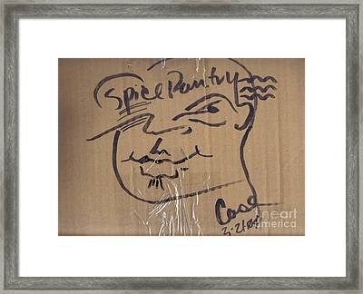 Spice Pantry Framed Print by Feile Case