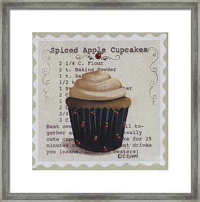 Spiced Apple Cupcake Framed Print by Catherine Holman