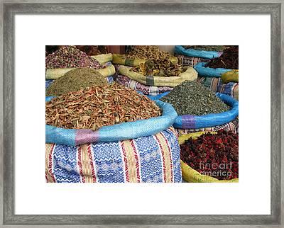 Spices At The Souk Framed Print by Sophie Vigneault