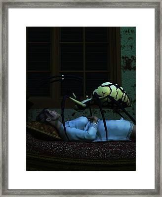 Spider Nightmare Framed Print by Daniel Eskridge