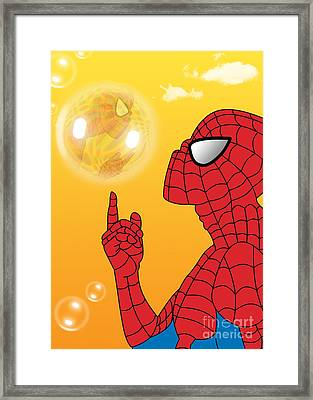 Spiderman 3 Framed Print by Mark Ashkenazi