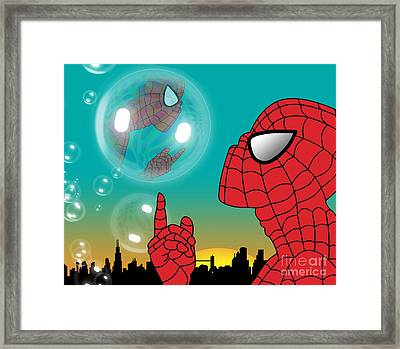 Spiderman 4 Framed Print by Mark Ashkenazi