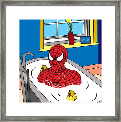 Spiderman  Framed Print by Mark Ashkenazi