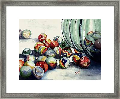 Spilled Marbles Framed Print by Sam Sidders