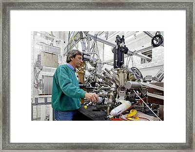 Spin-sem Equipment Framed Print by Ibm Research