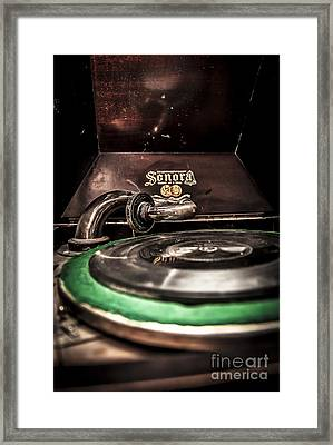Spin That Record Framed Print by Darcy Michaelchuk