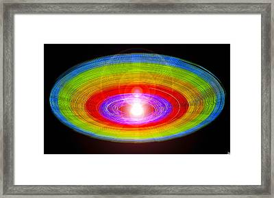 Spinning Color Wheel Framed Print by David Lee Thompson