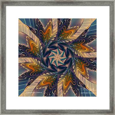 Spinning Energy Framed Print by Deborah Benoit
