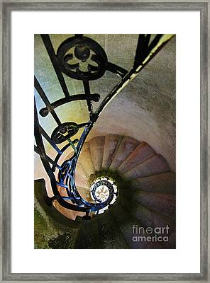 Spinning Stairway Framed Print by Carlos Caetano