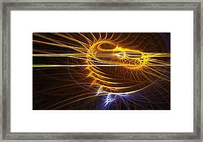 Spiral Fractal Framed Print by Gina Lee Manley