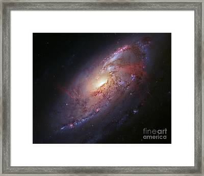 Spiral Galaxy M106, Hubble Image Framed Print by Robert Gendler