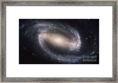 Spiral Galaxy Ngc 1300 Framed Print by Science Source