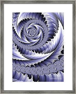 Spiral Leaf Abstract Framed Print by John Edwards