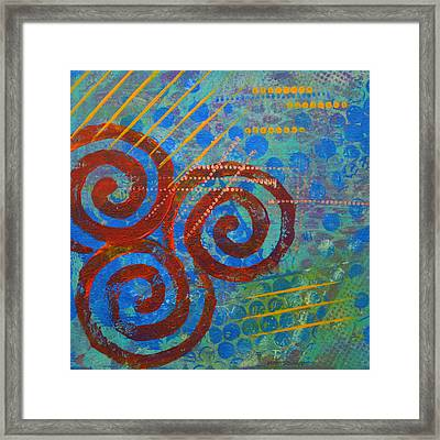Spiral Series - Stance Framed Print by Moon Stumpp