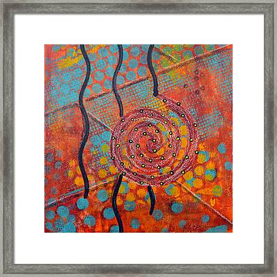 Spiral Series - Timber Framed Print by Moon Stumpp