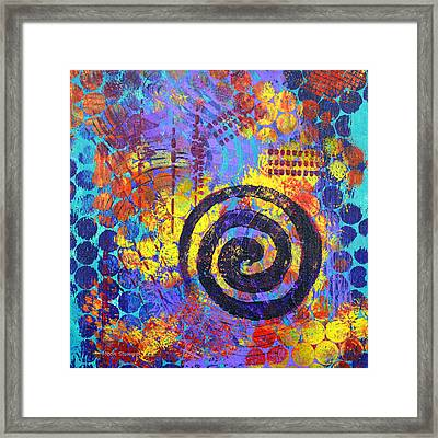 Spiral Series - Voice Framed Print by Moon Stumpp