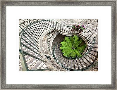 Spiral Staircase At The Embarcadero Framed Print by Chuck Haney