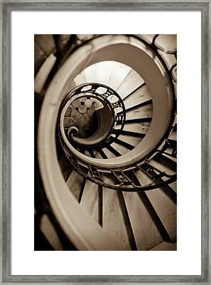 Spiral Staircase Framed Print by Sebastian Musial