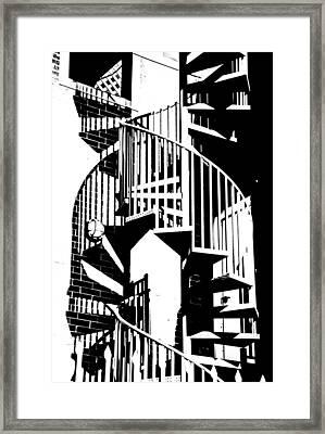 Spiral Stairs Framed Print by Darryl Dalton